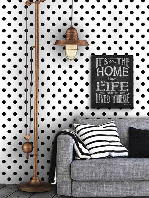 12 paredes en blanco y negro nada discretas decoraci for Deco sala en blanco y negro