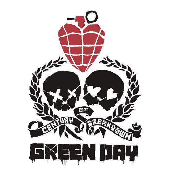 full color White background Logo Green Day Vinyl Sticker Decal