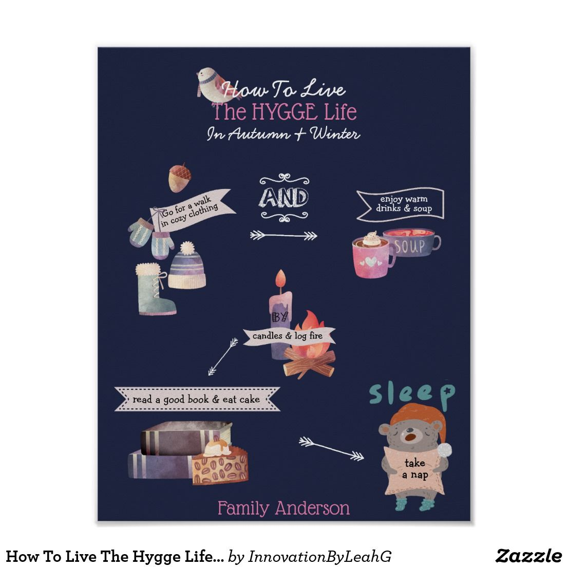 Photo of How To Live The Hygge Life Infographic Custom Poster | Zazzle.com
