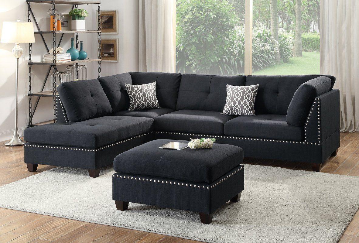reversible sectional trione sectional sofa sofa living room rh pinterest com