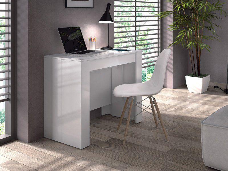 Mesa recibidor blanca mesa blanca comedor mesa comedor for Mesa consola extensible ikea