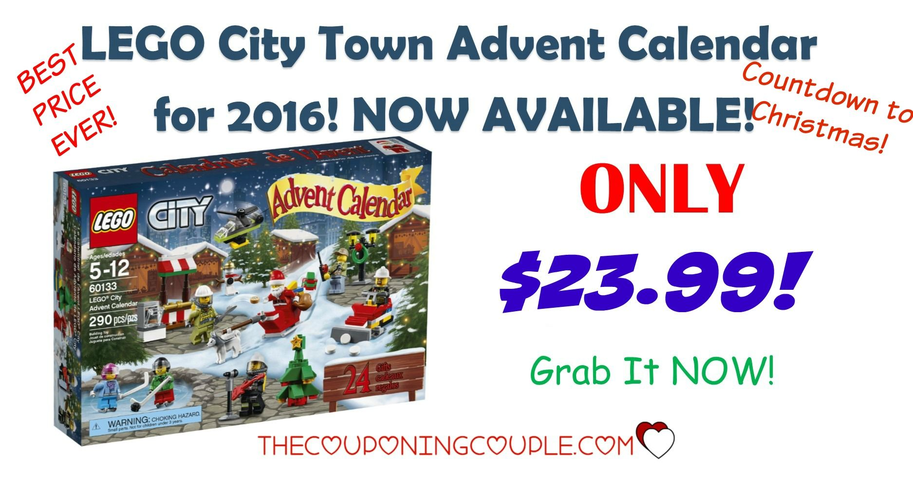 BEST PRICE EVER! The LEGO City Town Advent Calendar for 2016 is available! Grab it NOW while it is available! It will be harder to find as we get closer to Christmas! $23.99!  Click the link below to get all of the details ► http://www.thecouponingcouple.com/lego-city-town-advent-calendar-2016-29-99/ #Coupons #Couponing #CouponCommunity  Visit us at http://www.thecouponingcouple.com for more great posts!