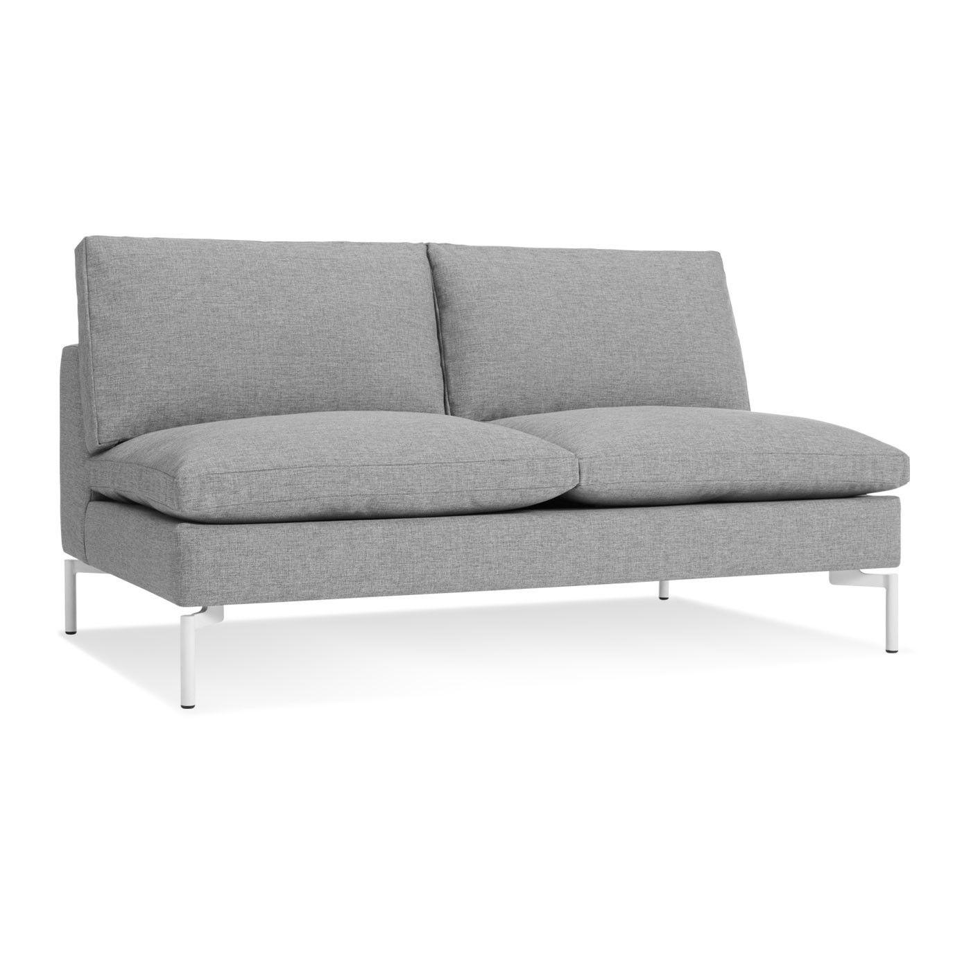 "New Standard 60"" Armless Sofa Love seat, Armless sofa"
