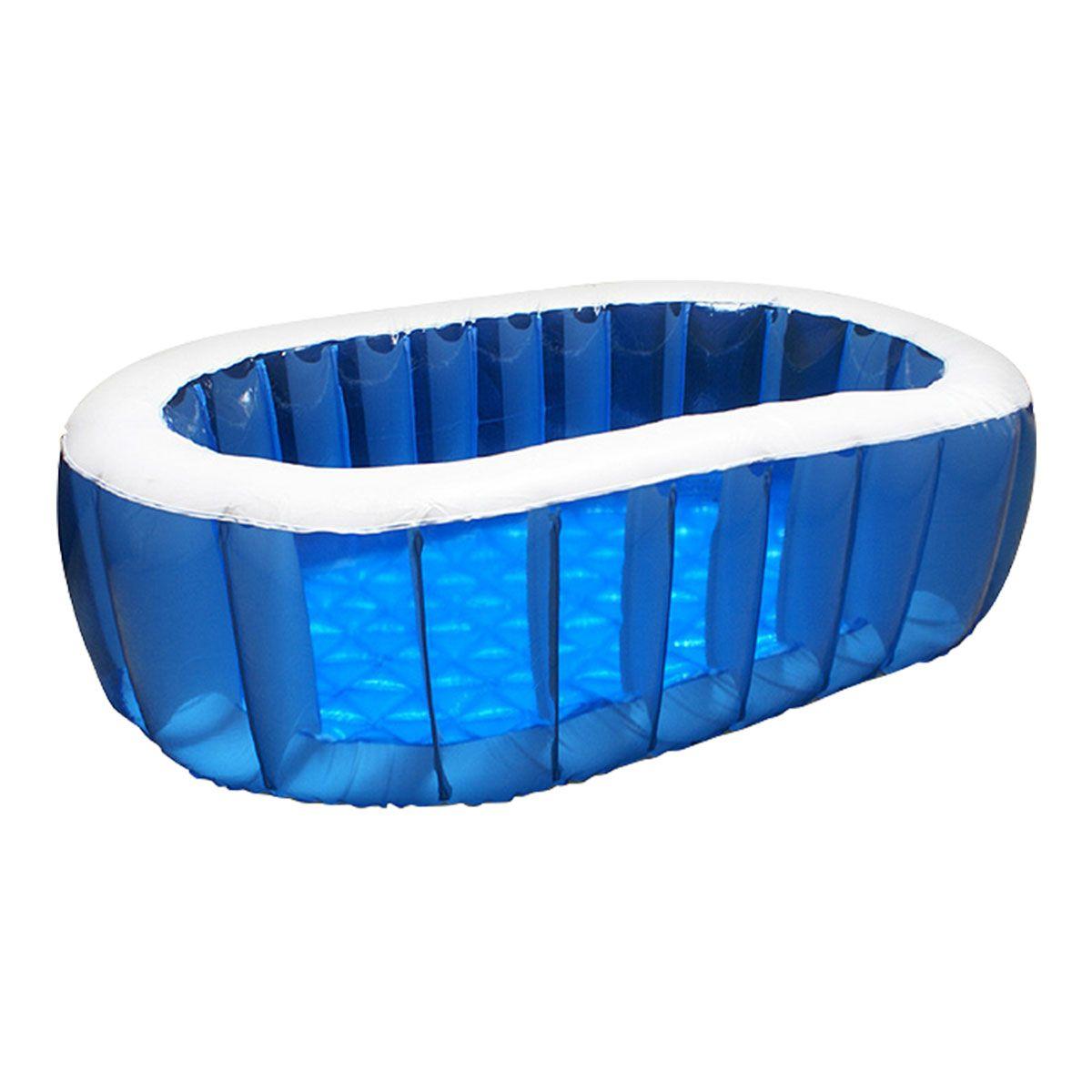 楽天市場 1年保証 プール ビニールプール オーバルプール 中型 幅