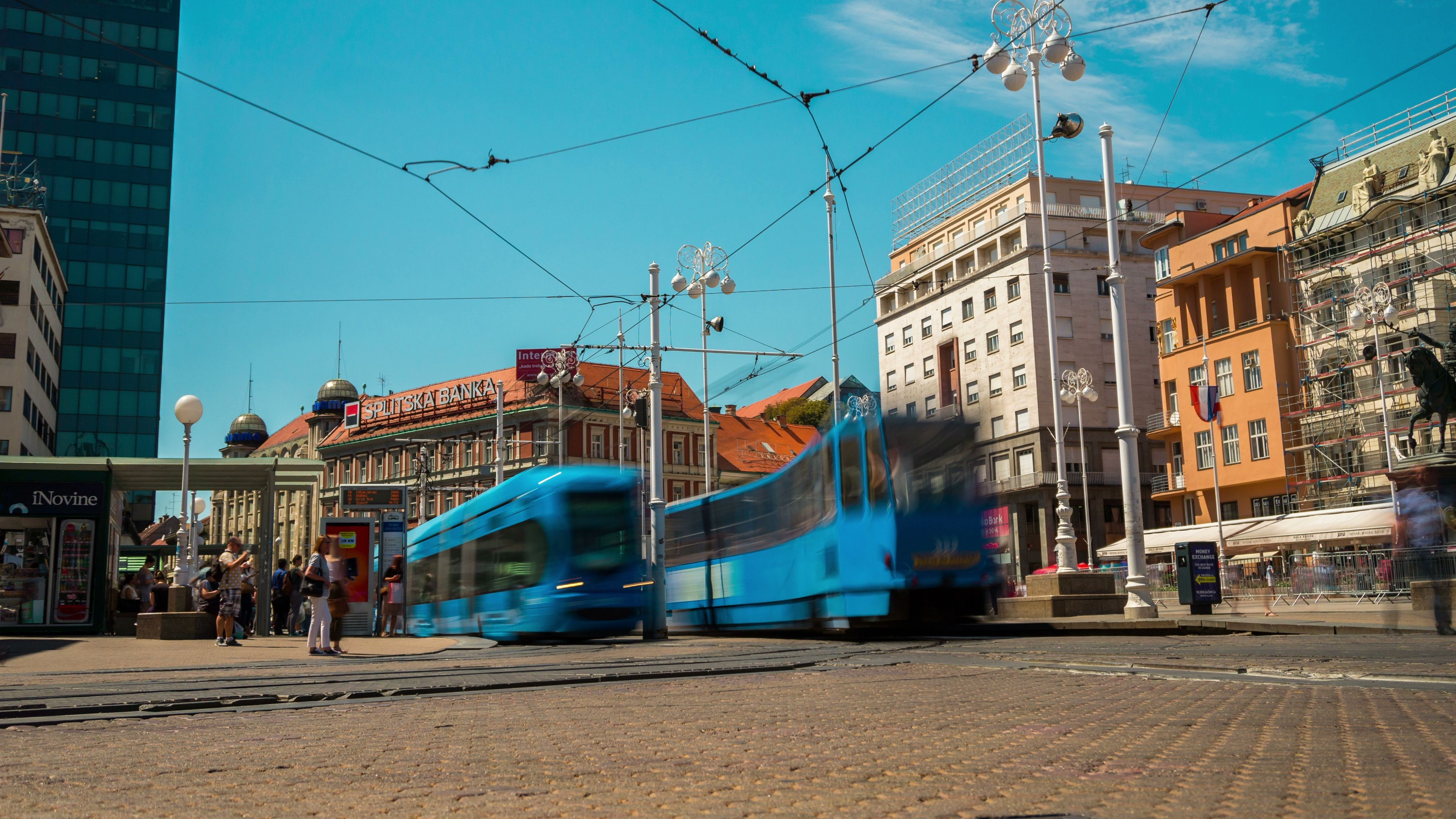 Time Lapse Of Busy City Center Of Zagreb Croatia Stock Footage Ad Busy City Time Lapse Zagreb Zagreb Croatia City