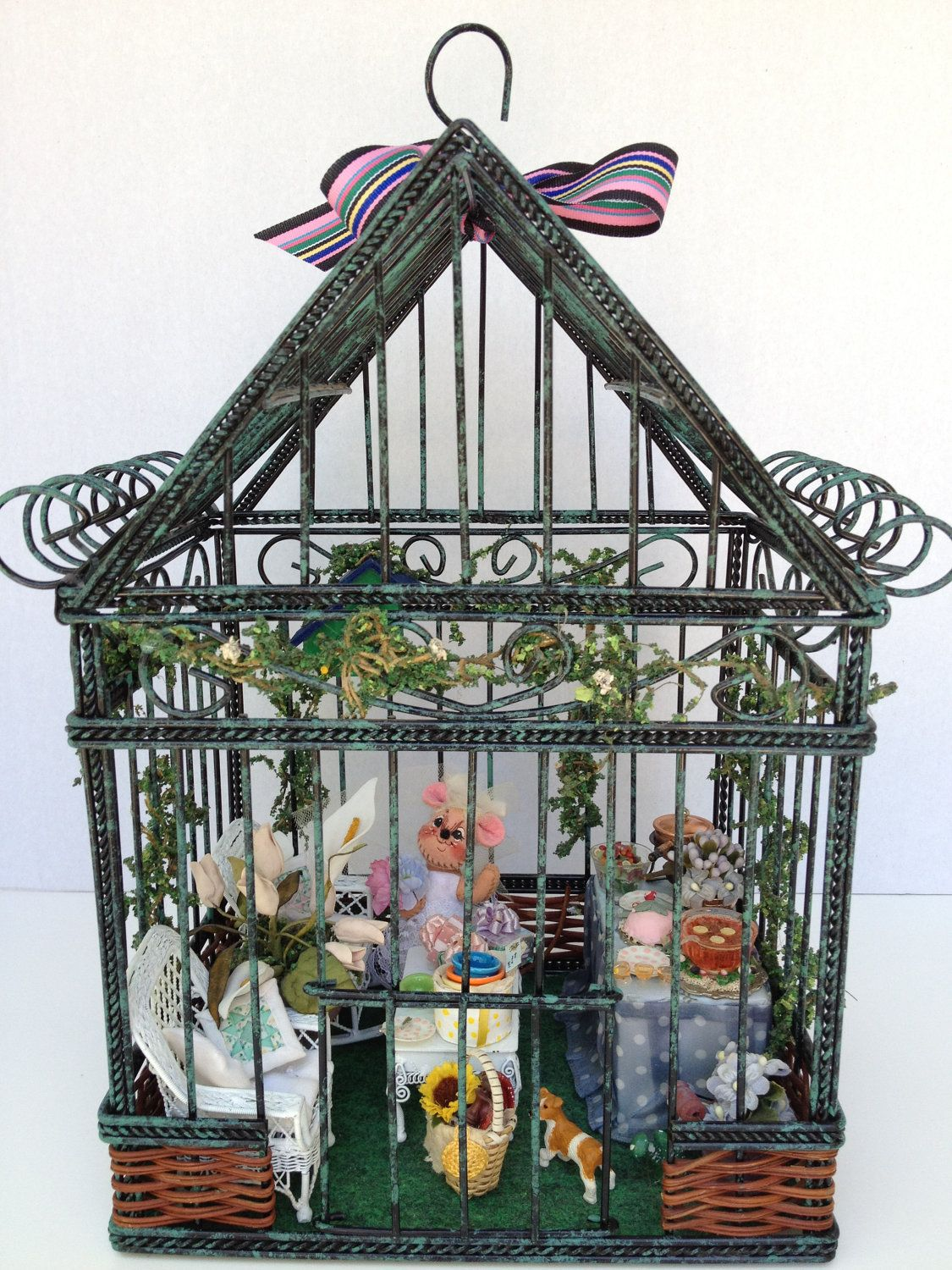 Miniature Children S Bedroom Room Box Diorama: MINIATURE BRIDAL SHOWER A Garden Party And Buffet Lunch