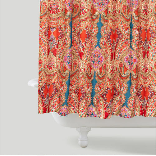 Bright Colors In A More Traditional Paisley Pattern Trending Bathroom Decor