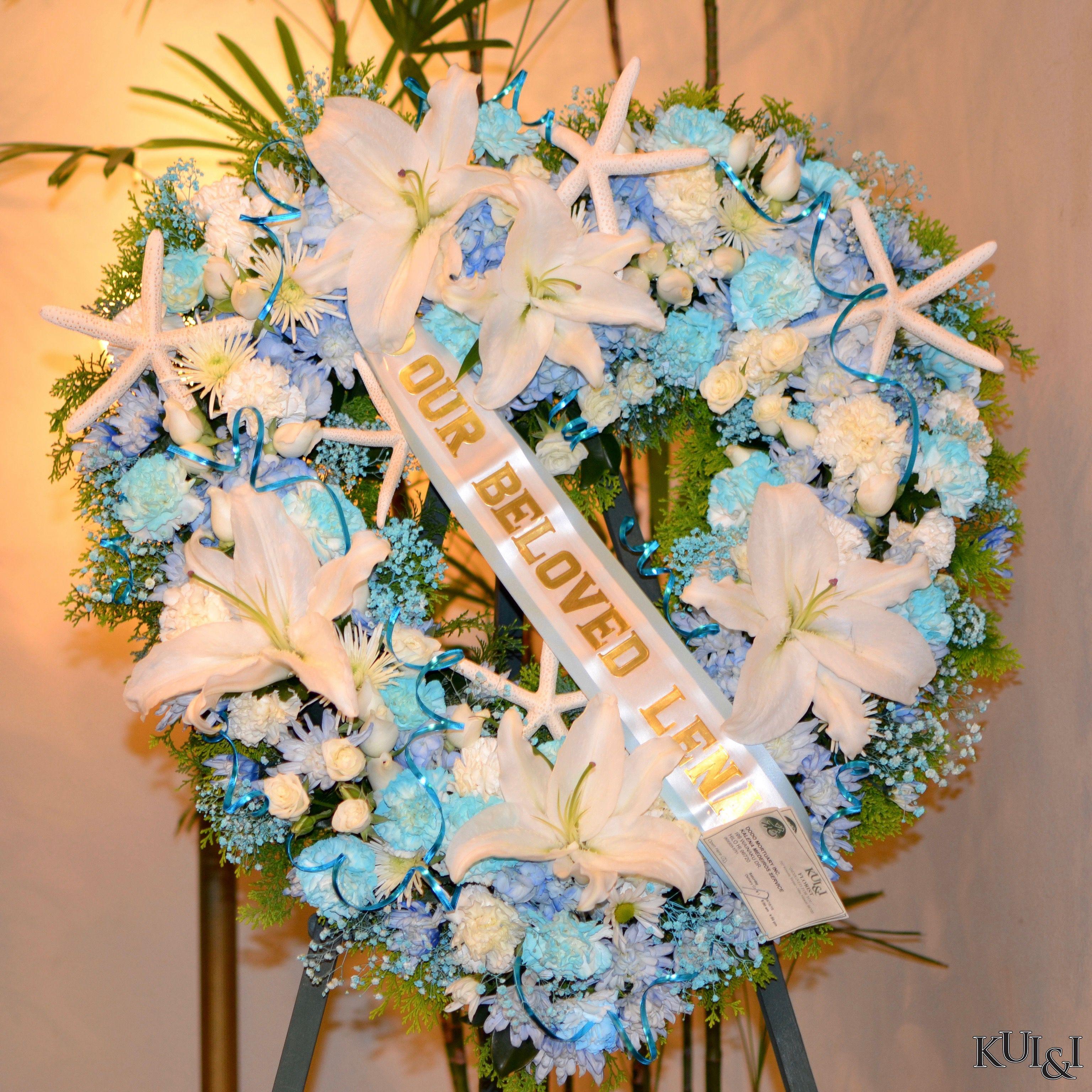Tiffany Blue Funeral Heart Wreath   Kui & I Florist, LLC Hilo, Hawaii…