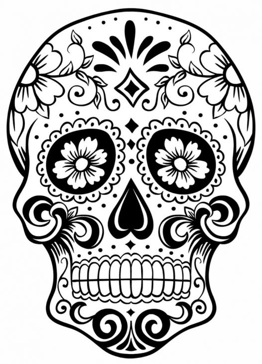 coloring pages for grown ups free coloring printable sugar skull - Sugar Skull Coloring Pages Print