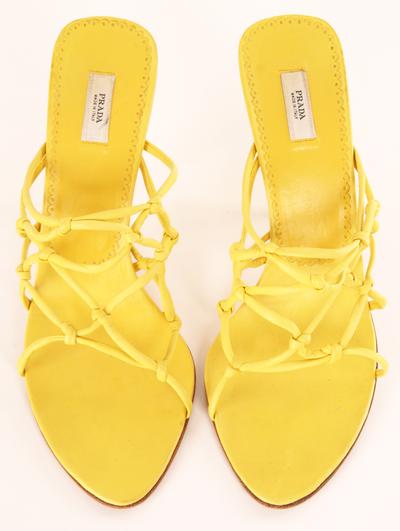 PRADA HEELS in yellow  wearabledesign Moda Giallo ce5101a5601