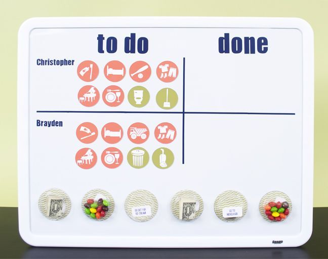 Magnetic Chore Chart Pinterest: DIY Magnetic Chore Chart | Silhouette Blog: Organization Week ,Chart