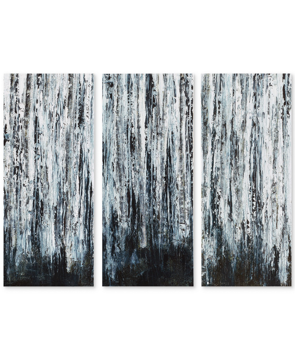 Jla Home Madison Park Birch Forest 3 Pc Gel Coated Canvas Print Set Reviews Wall Art Macy S In 2020 Madison Park Wall Art Print Sets