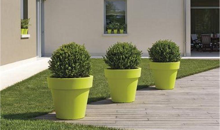Grand pot ikon pour arbuste et plantes d 39 exception jarre pour jardi - Plantes fleuries artificielles pour exterieur ...