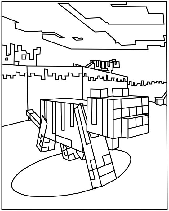Minecraft Animal Coloring Pages Printable. Printable Minecraft Ocelot coloring pages  Coloring Pages Free printables and