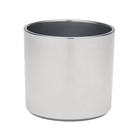 sk las vegas indoor plant pot silver 14cm decor. Black Bedroom Furniture Sets. Home Design Ideas