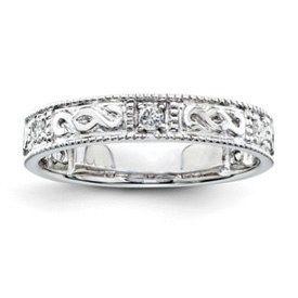 Sterling Silver  $235  1/5 Carat t.w. Diamonds  Sizes 6-7-8  QR3466