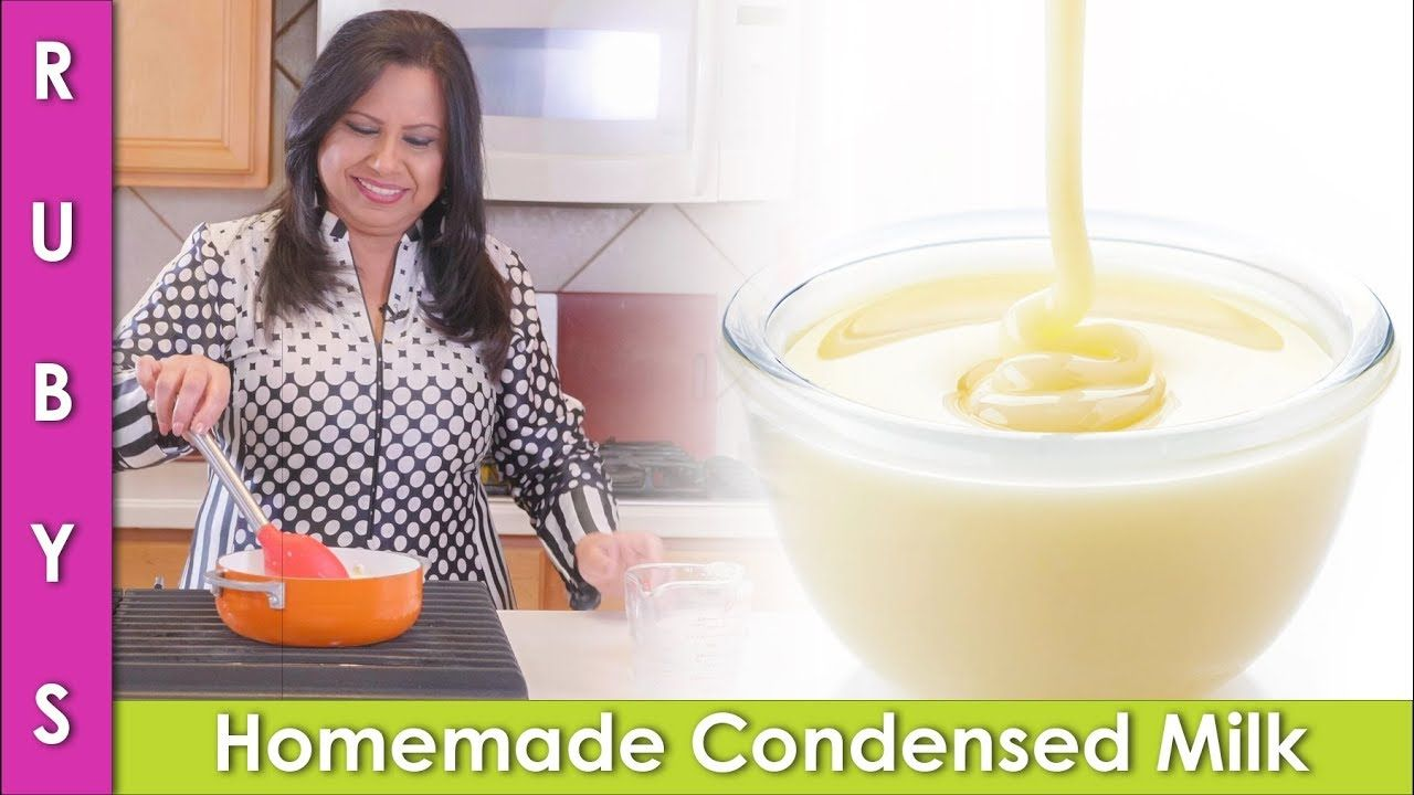 Homemade Condensed Milk Recipe Without Milk Powder In Urdu Hindi Rkk Youtube Condensed Milk Recipes Recipe Without Milk Condensed Milk