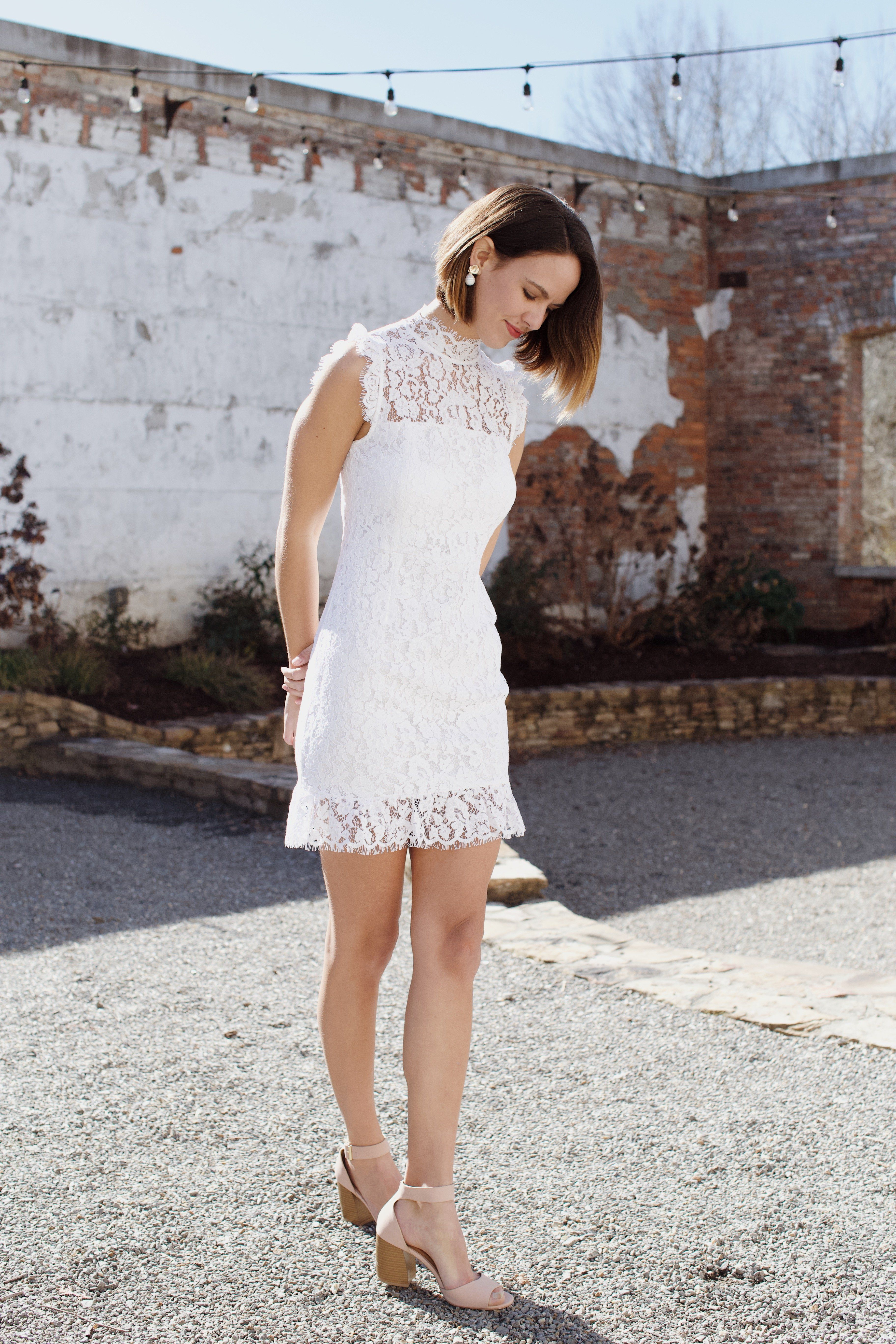 Pin By North Main Clothing Company On I Dream Of A Wedding Short White Cocktail Dresses White Dresses Graduation White Lace Dress Short [ 5472 x 3648 Pixel ]