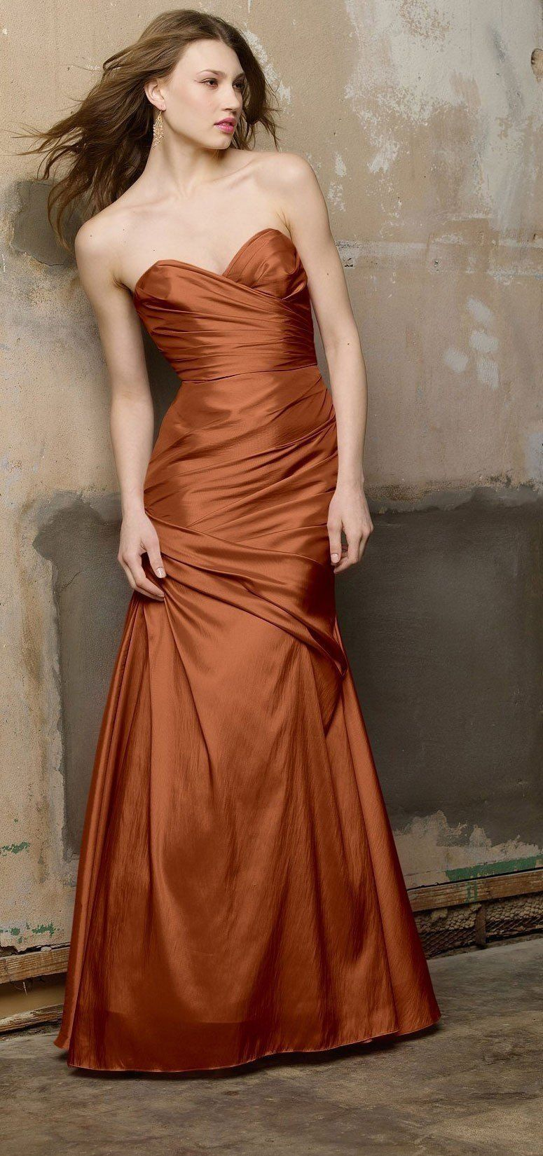 Copper colored bridesmaid dresses image collections braidsmaid copper wedding dress google search copper wedding couture copper wedding dress google search brown wedding dressesbride ombrellifo Image collections