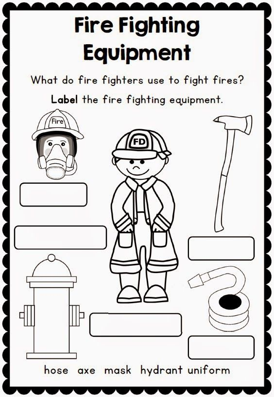 Fire Safety Printables and Support Resources – Fire Safety Worksheets for Kindergarten