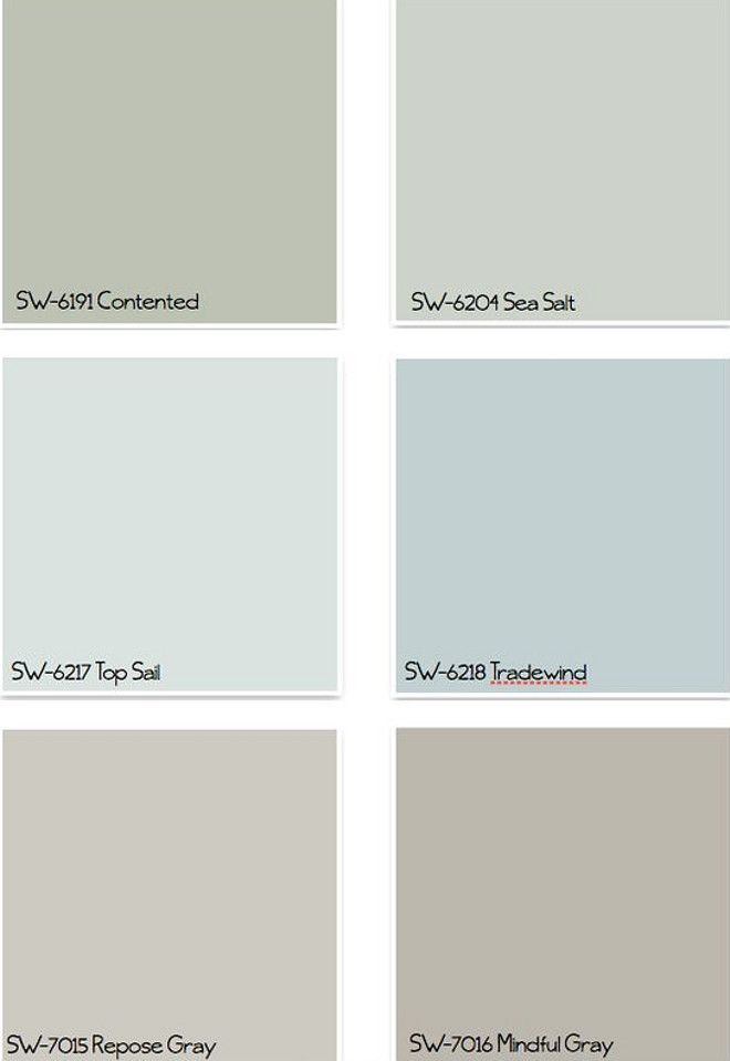 Interior Design Ideascoastal Colors For Any Home Style Sherwin Williams Sw6191 Contented Sw6204 Sea Salt Sw6217 Top