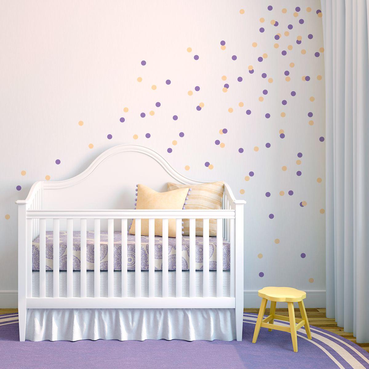 Confetti Dots Wall Decal Fun Confetti Wall Stickers Baby Girl Room Polka Dot Walls Confetti Wall