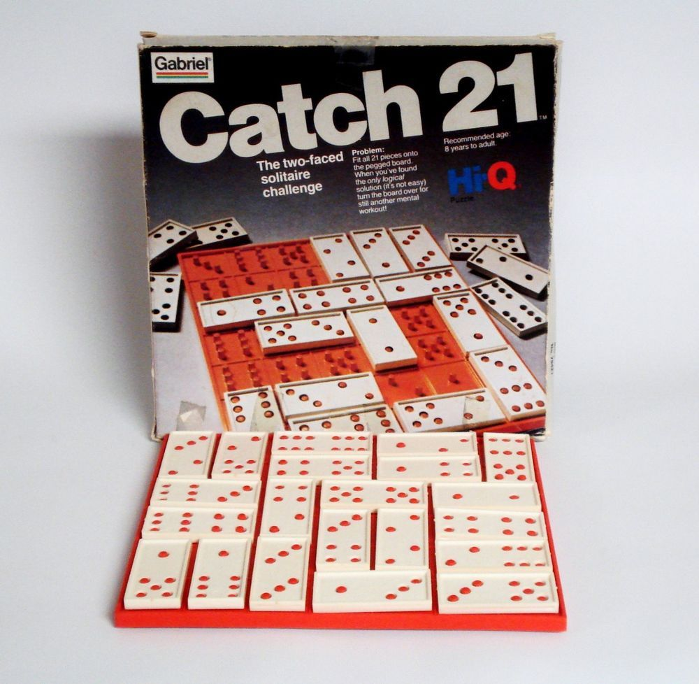 Vintage Catch 21 Hi Q Puzzle 2 Sided Solitaire Challenge Game By Gabriel Vintage Board Games Challenge Games Bored Games