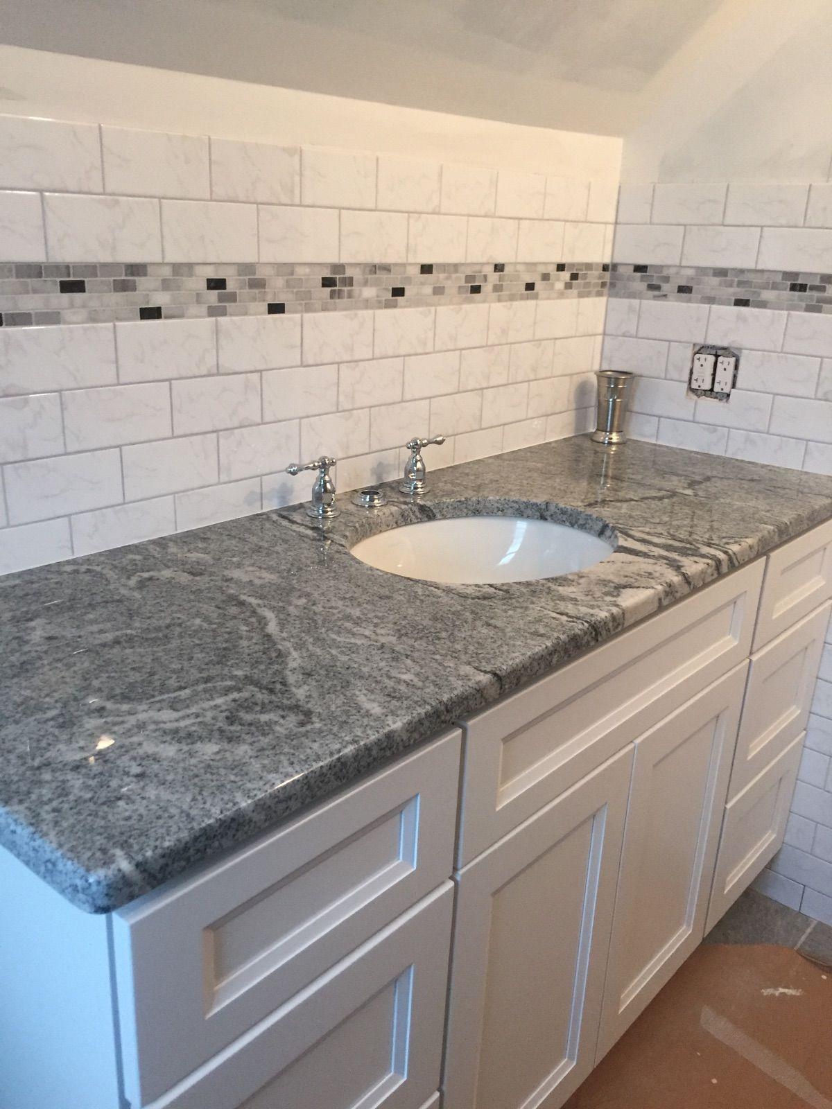 Granite Viscont White Cabinetry Jwq Concord White Location Wilmington De Granite Bathroom Vanity Visco White Granite Bathroom Granite Bathroom Bathroom