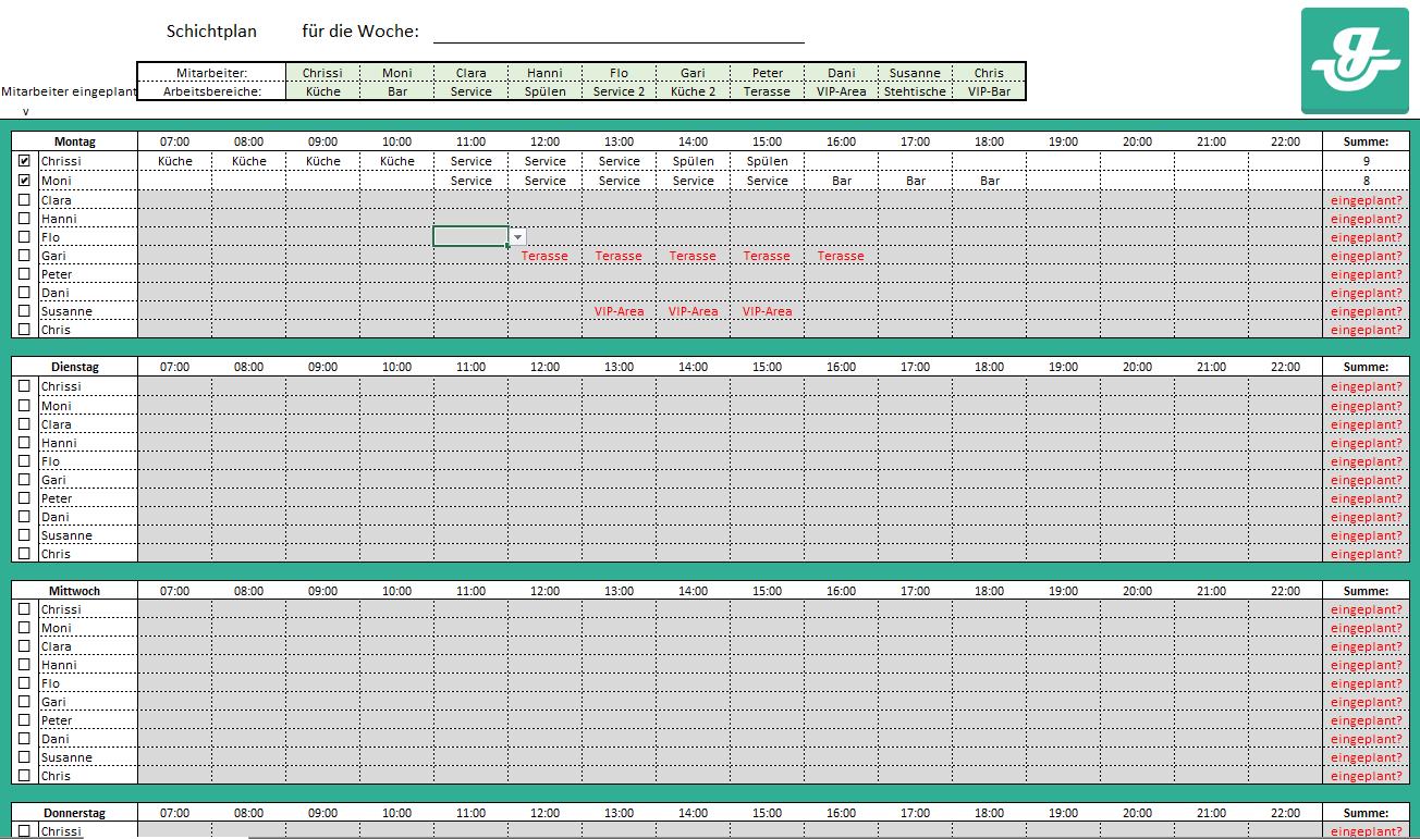 Dienstplan Erstellen In Excel Schritt Fur Schritt Ionos