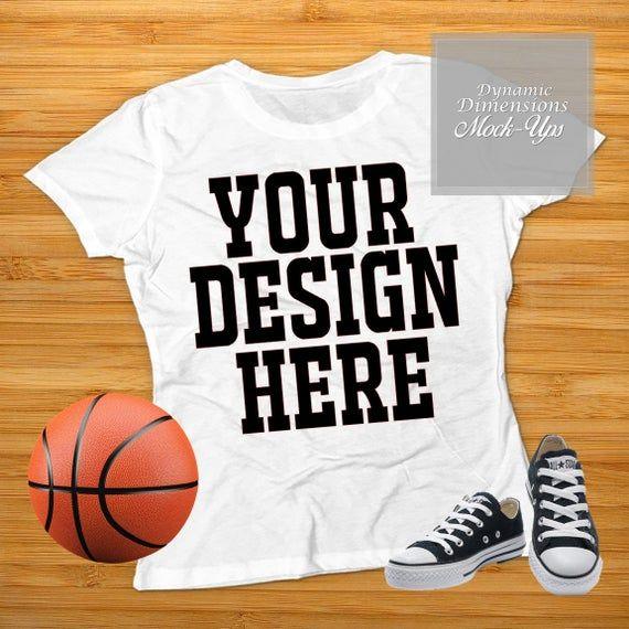 Download Blank White Basketball T-Shirt Apparel Mockup, Top View ...