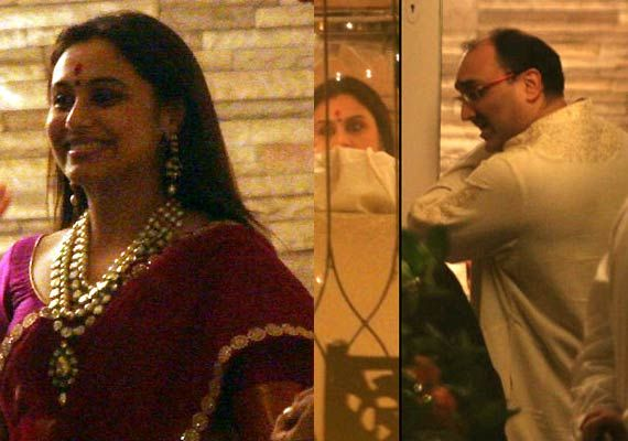 Rani Mukerji Ties The Knot With Aditya Chopra Secretly In Italy Celebrities Celebrity Weddings Rani Mukherjee Wedding