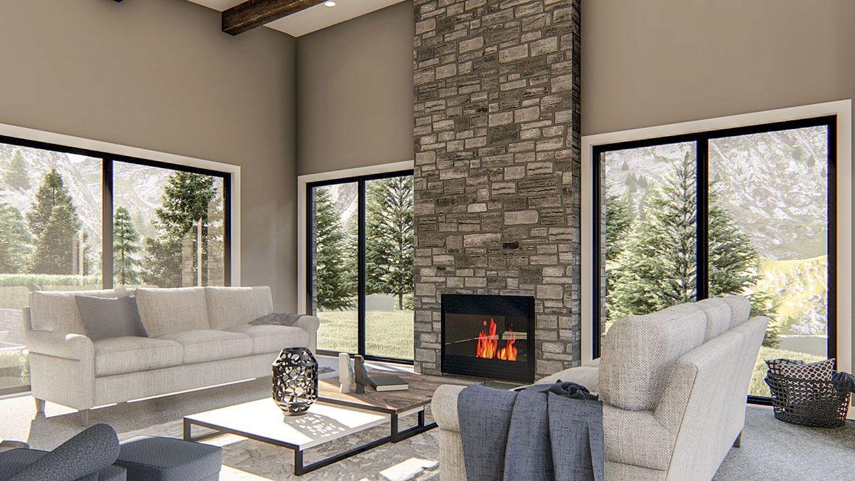 Plan 62801DJ: Exclusive Modern Home Plan with Courtyard ...