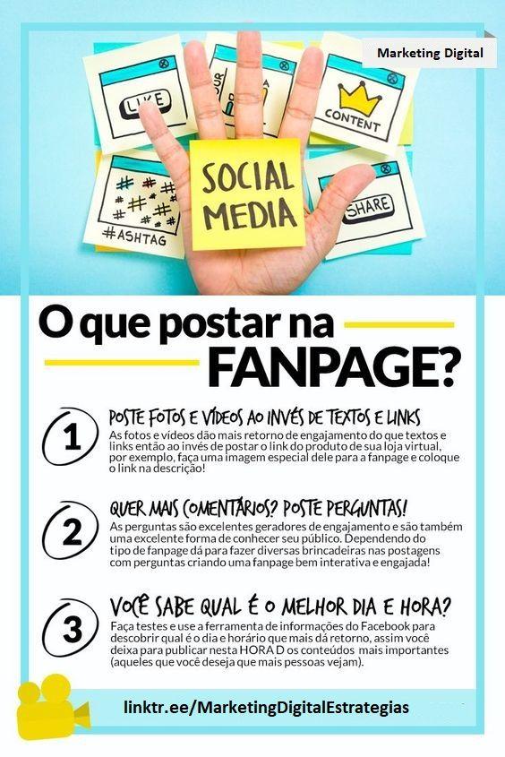 Conteúdo para Fanpage Facebook | Dicas Marketing D...