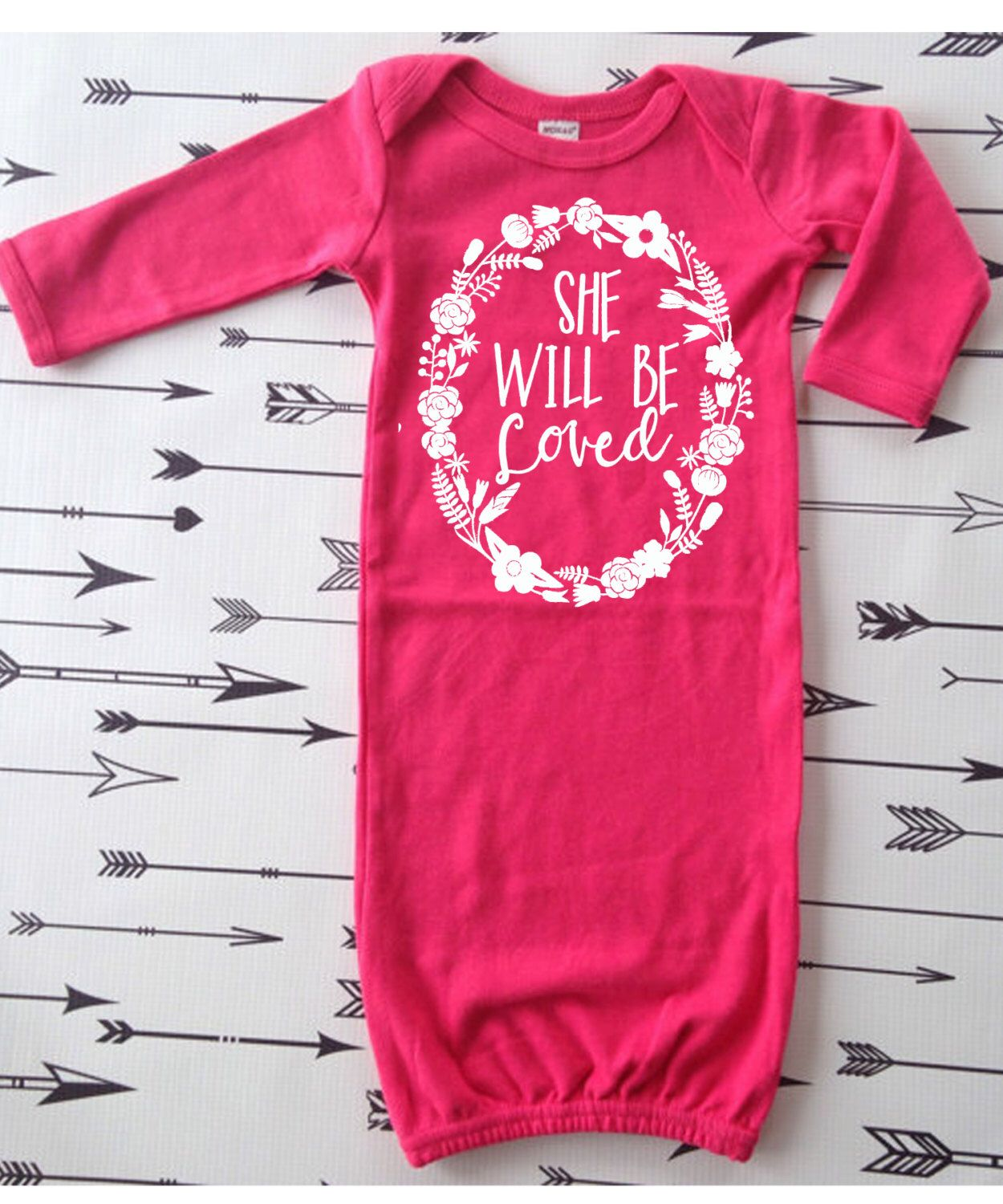 Infant Sleeper Gown She will be Loved Hospital Outfit Newborn Take ...