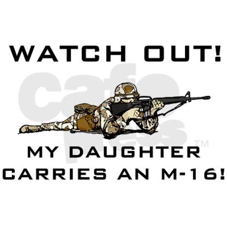 MILITARY DAUGHTER M-16 Thermos®  Bottle (12oz) on CafePress.com
