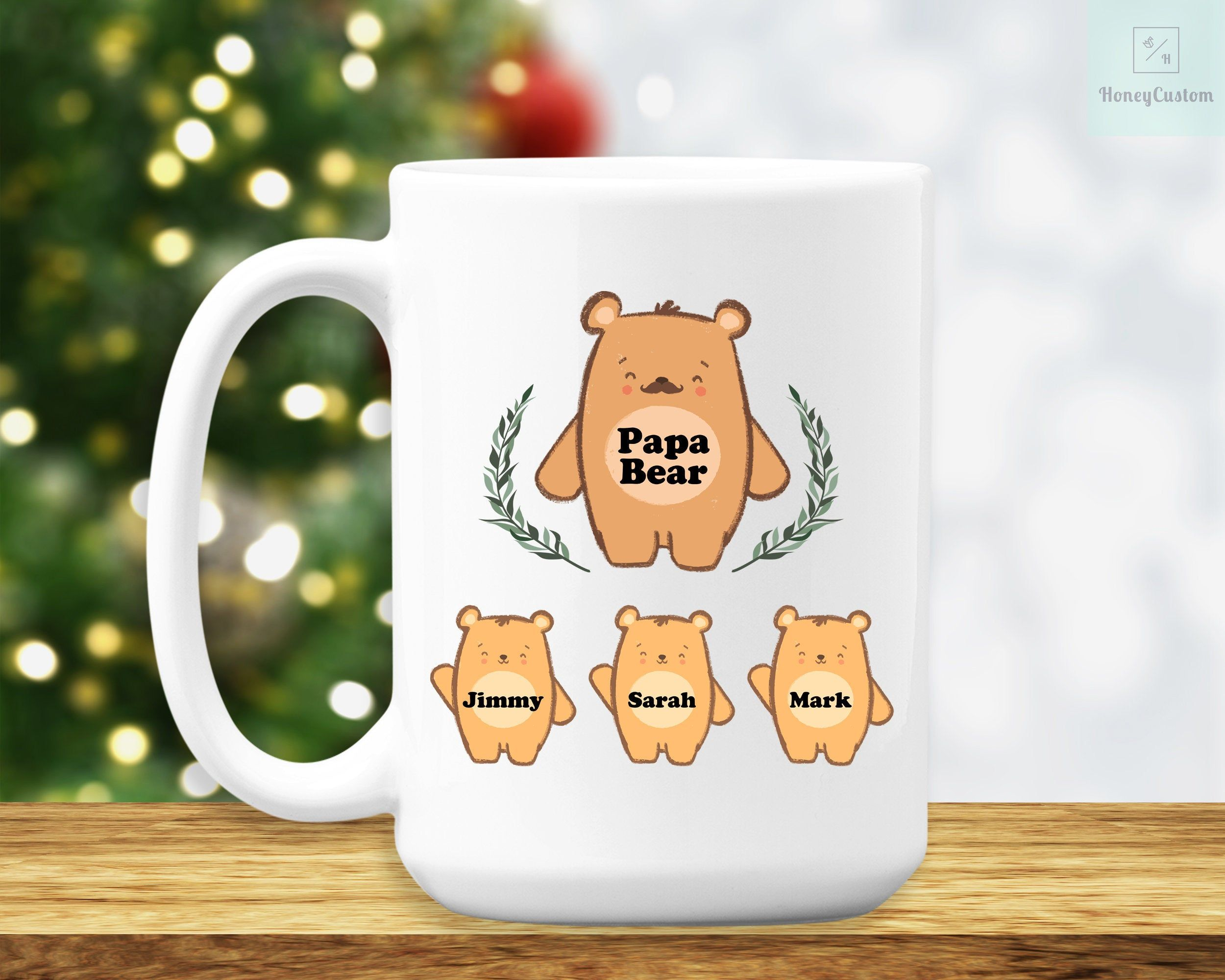 Papa Bear Papa Mug Papa Bear Mug Papa Bear Coffee Mug Father/'s Day Gift Father
