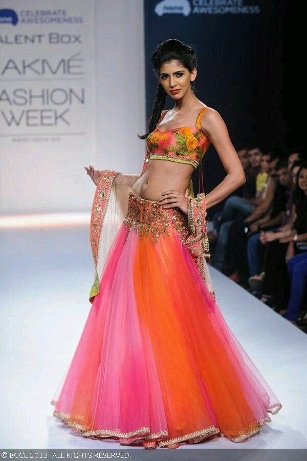 Lehenga choli fashion show 7