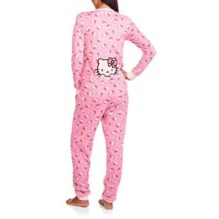3a8d2a5ea Hello Kitty Women's Drop Seat One Piece PJ | ♡ Available at Walmart ...