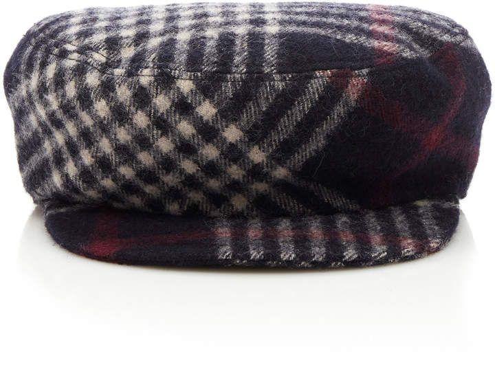 Isabel Marant Naly Checked Wool Cap  5e93bdb6cc1e