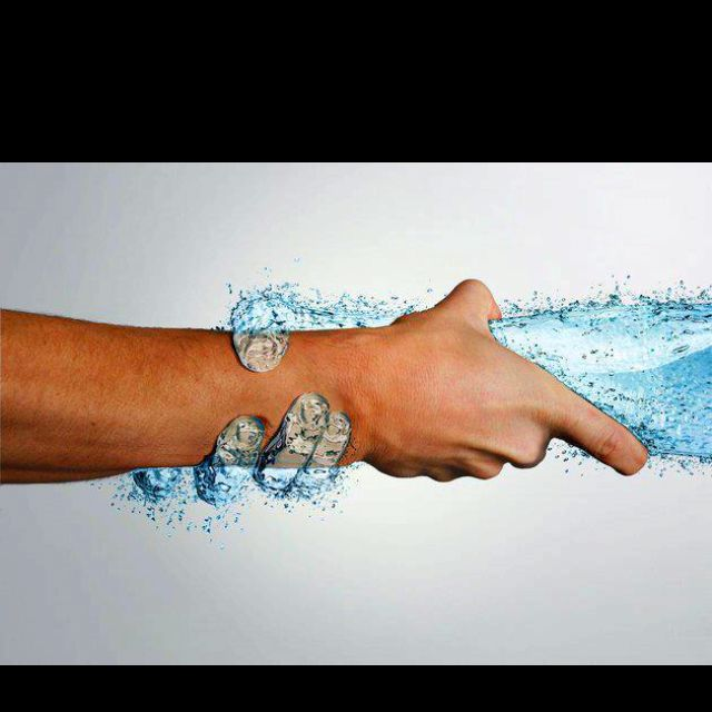 Give me a hand The ethereal (anandamaya kosha) meets the physical(anamaya kosha)