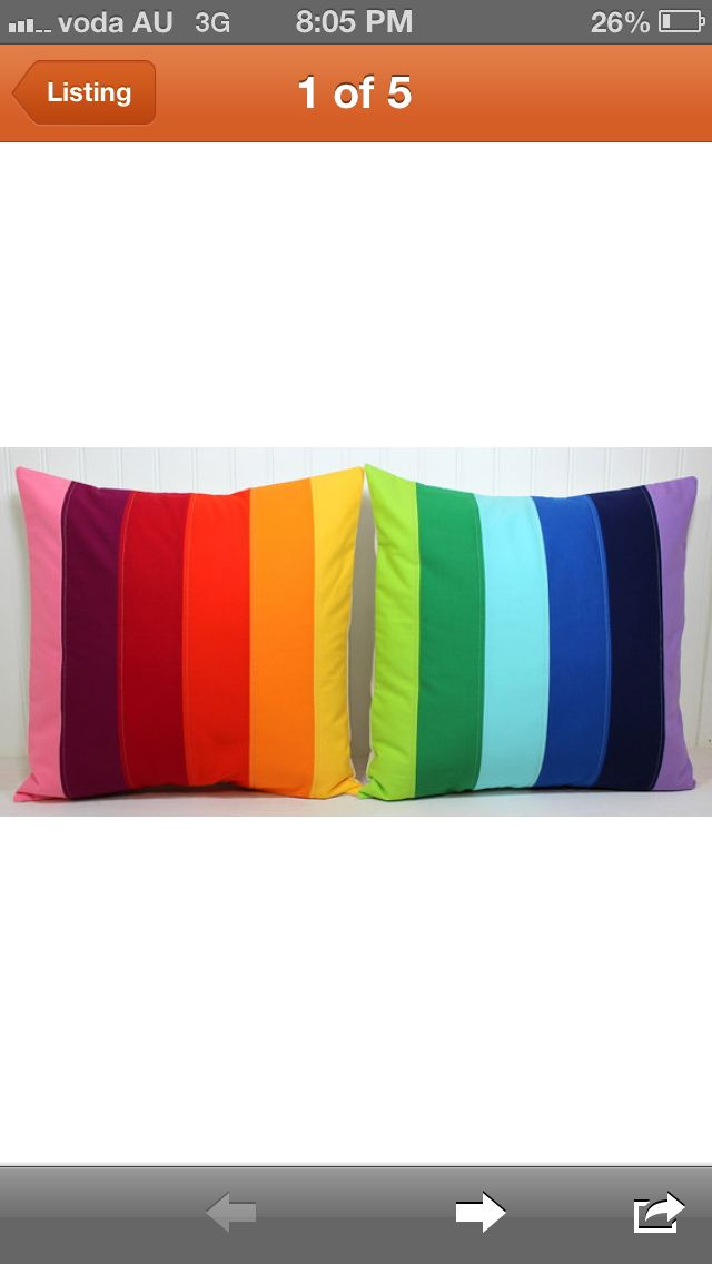 Cushions . Thinking white quilt with brought coloured cushions or pillowslips