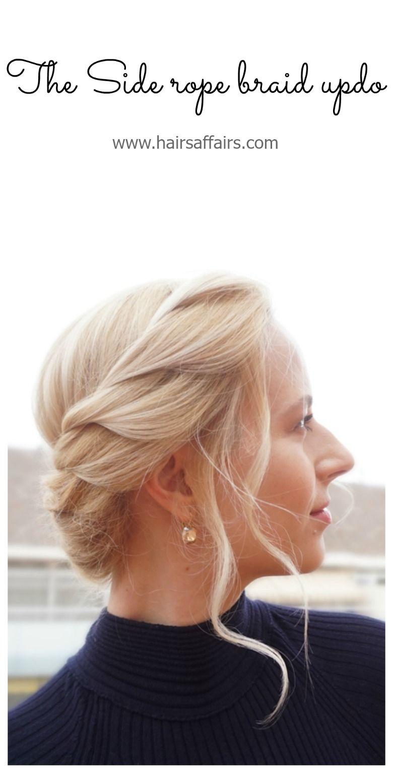 Heat proof hairstyles easy rope braid updos updo tutorial