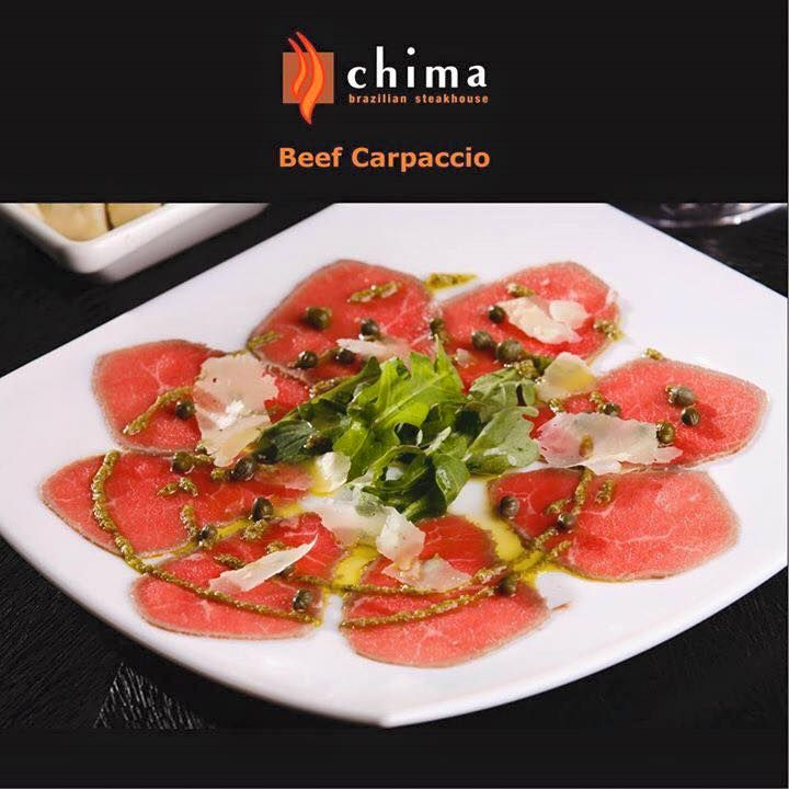 *BEEF CARPACCIO*  If exciting and flavorful is what you want for tonight, try our delicious Beef Carpaccio - thin sliced beef with capers and a delightful mustard sauce. You can also try our Beef Capaccio as an appetizer at the Chima Bar!  >> Make your reservations now at www.chimasteakhouse.com or call us now at (954) 712-0580 to book your party! <<