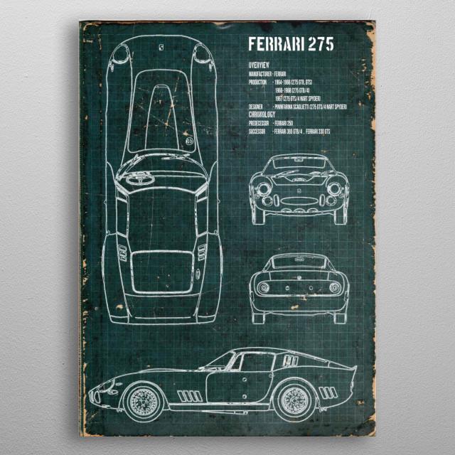 Ferrari 275 by FARKI15 DESIGN | metal posters - Displate | Displate thumbnail