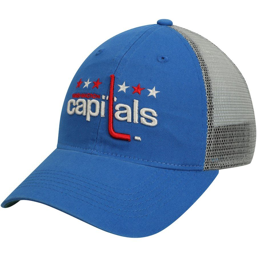 Men s Washington Capitals adidas Royal Culture Washed Slouch Adjustable Hat 08b623bb8