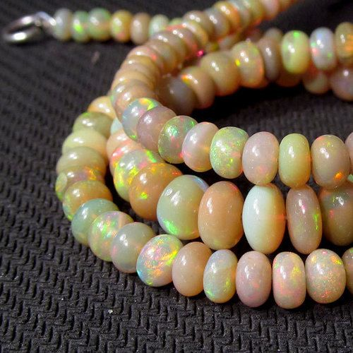 54 cts 17 5 4mm 7mm Natural Real Ethiopian Fire Opal Gemstones Beads Necklace | eBay