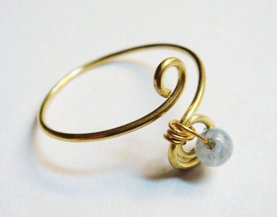 Thumb Ring Labradorite Ring Labradorite Thumb Ring 14K Gold Filled