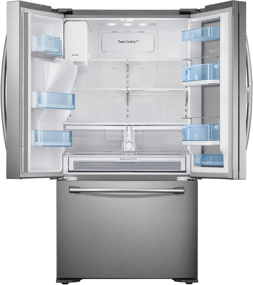 Samsung 23 Cu Ft Counter Depth 3 Door Refrigerator With Food