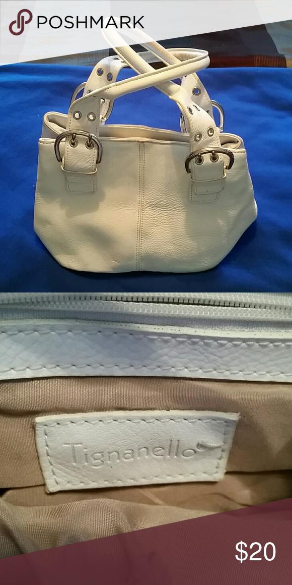 Tignanello White Leather Purse Tignanello White Leather Purse Tignanello Bags Mini Bags
