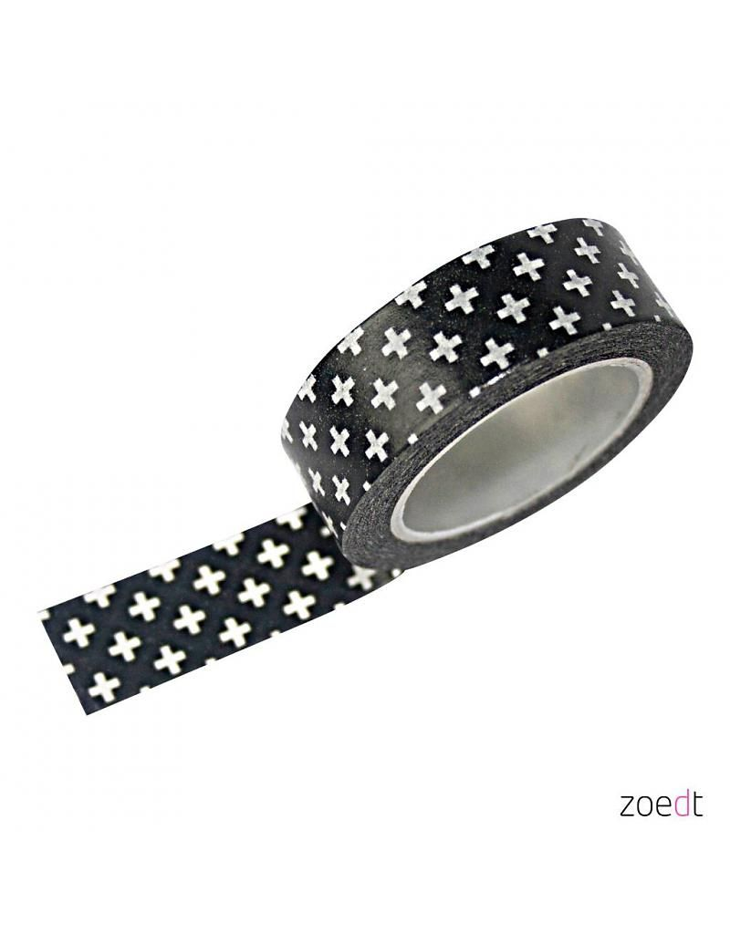 Masking Tape Zwart Met Witte Plusjes Do It Yourself Masking Tape